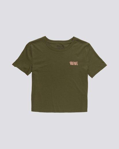 0 Branded Crop - T-Shirt aus Bio-Baumwolle für Damen Grün S3SSA4ELP0 Element