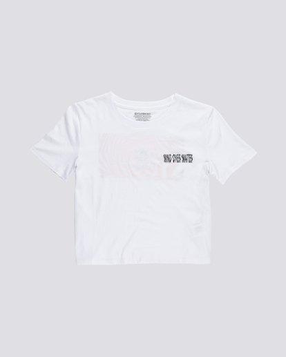 0 Modern Crop - T-Shirt aus Bio-Baumwolle für Damen Weiss S3SSA6ELP0 Element