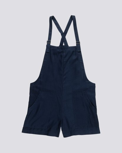 0 Dream Twill - Pantalones cortos de viscosa para Mujer Azul S3WKA8ELP0 Element