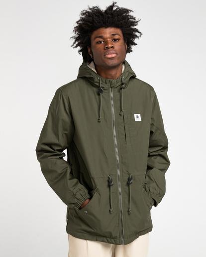 1 Wolfeboro Stark - Water-Resistant Jacket for Men Green U1JKF4ELF0 Element