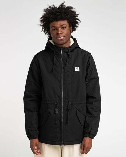 1 Wolfeboro Stark - Water-Resistant Jacket for Men Black U1JKF4ELF0 Element