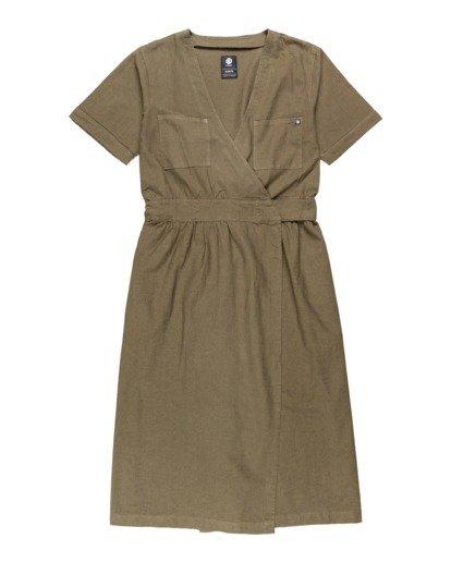 0 Kayla - Robe pour Femme Vert U3DRA2ELF0 Element