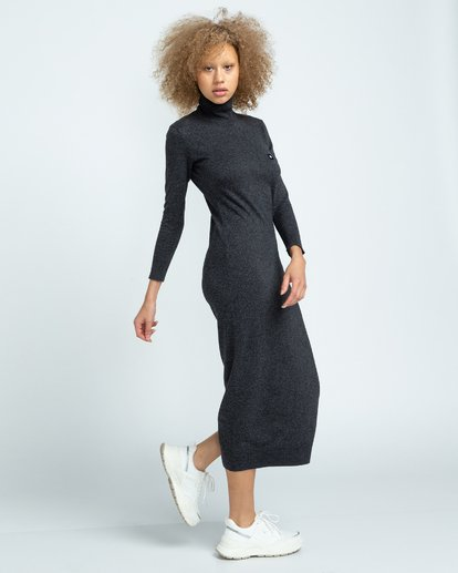 3 Jenni - Robe pour Femme Gris U3DRA5ELF0 Element