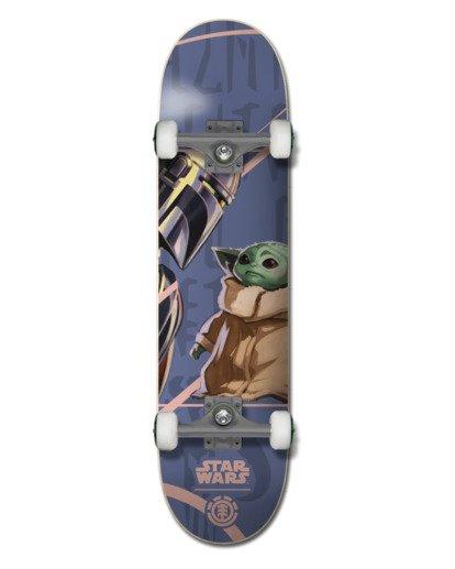 "0 Star Wars X Element 7.5"" Mandalorian Child - Skateboard Black U4CPD4ELF0 Element"