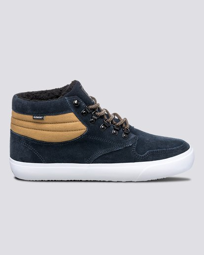 0 Wolfeboro Topaz C3 - Recycled & Organic Mid-Top Shoes for Men Blue U6TM3101 Element