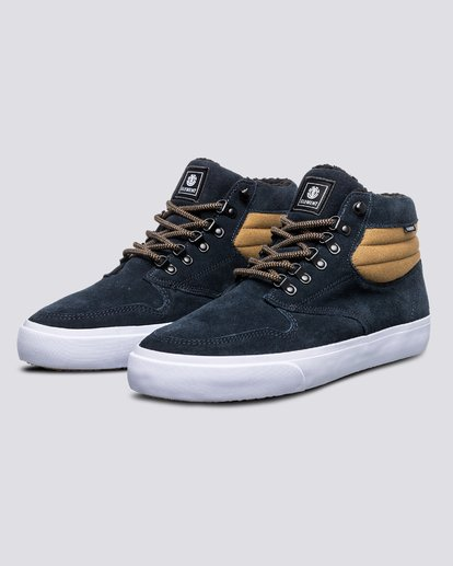 1 Wolfeboro Topaz C3 - Recycled & Organic Mid-Top Shoes for Men Blue U6TM3101 Element