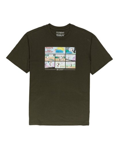 0 Peanuts Camper - Camiseta para Hombre Verde W1SSO4ELP1 Element