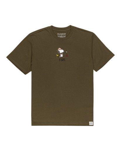 0 Peanuts Element - T-Shirt for Men Green W1SSO5ELP1 Element