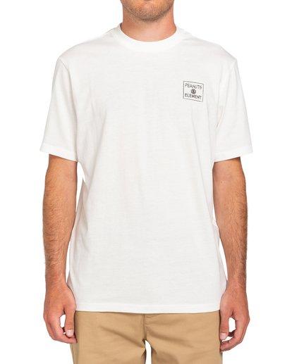 0 Peanuts Page - Camiseta para Hombre Blanco W1SSO7ELP1 Element