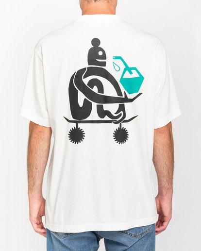 3 Fernando Elvira After Skate - Camiseta para Hombre Blanco W1SSP2ELP1 Element