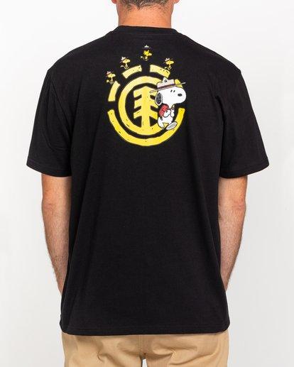 1 Peanuts Emerge - Camiseta para Hombre Negro W1SSP8ELP1 Element