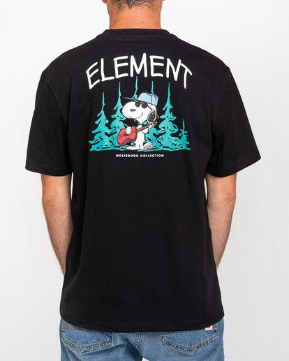 3 Peanuts Good Times - T-Shirt for Men Black W1SSP9ELP1 Element