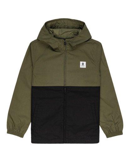 0 Wolfeboro Alder Light 2 Tones - Lightweight Water Resistant Jacket for Boys Black W2JKA6ELP1 Element