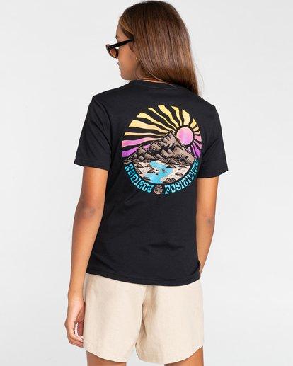 4 Balmore - Camiseta para Chicos Negro W2SSE4ELP1 Element