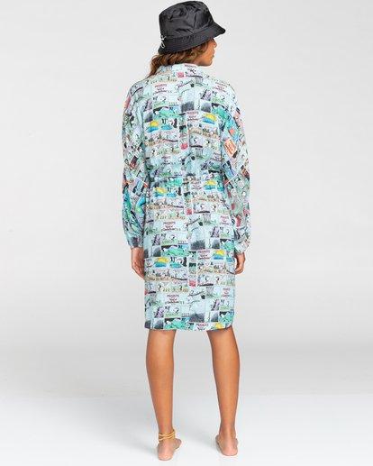 3 Peanuts Marshmallow - Robe chemise courte oversize pour Femme Blanc W3DRD2ELP1 Element