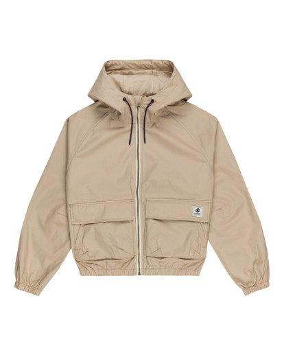 0 Wolfeboro Sashay Light - Water Resistant Jacket for Women Beige W3JKA3ELP1 Element