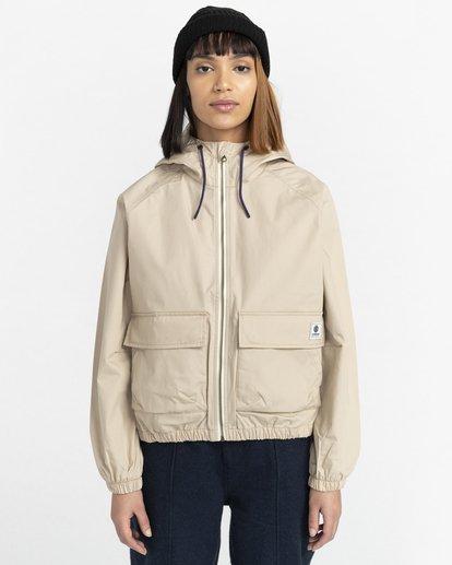 1 Wolfeboro Sashay Light - Water Resistant Jacket for Women Beige W3JKA3ELP1 Element