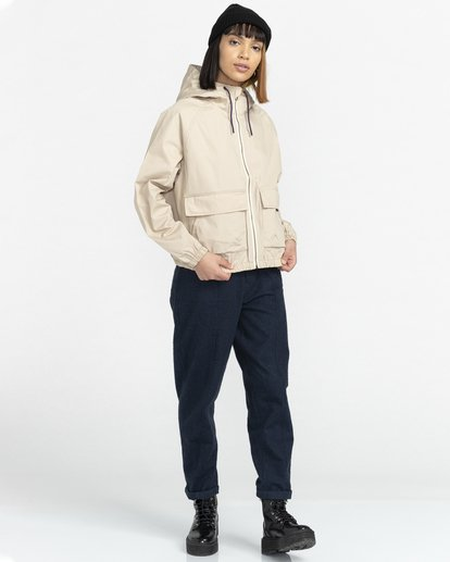 6 Wolfeboro Sashay Light - Water Resistant Jacket for Women Beige W3JKA3ELP1 Element