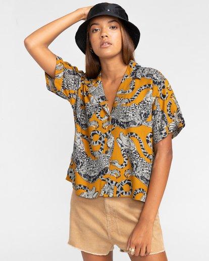 2 Java - Camisa de manga corta para Mujer Amarillo W3SHB2ELP1 Element