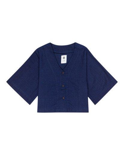 0 Salto Indigo - Camisa de manga corta para Mujer Violeta W3SHB4ELP1 Element