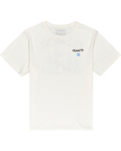 0 Peanuts Good Times - Camiseta para Mujer Blanco W3SSB1ELP1 Element