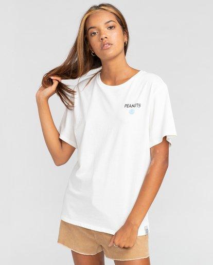 2 Peanuts Good Times - Camiseta para Mujer Blanco W3SSB1ELP1 Element