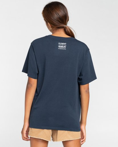3 Peanuts Simple Living - T-Shirt für Frauen Blau W3SSB2ELP1 Element