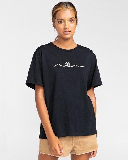 2 Peanuts Trekking - T-Shirt für Frauen Schwarz W3SSB4ELP1 Element