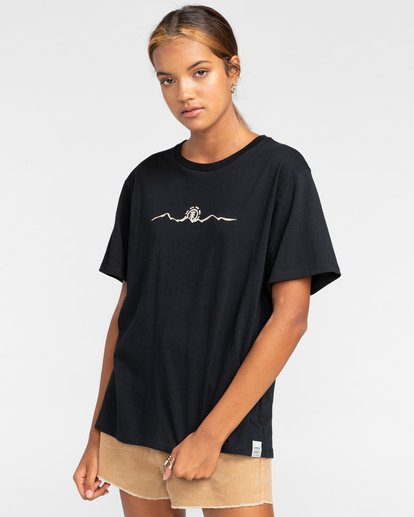 3 Peanuts Trekking - T-Shirt für Frauen Schwarz W3SSB4ELP1 Element