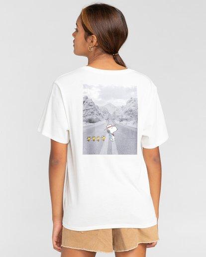 3 Peanuts Adventure - Camiseta para Mujer Blanco W3SSB5ELP1 Element
