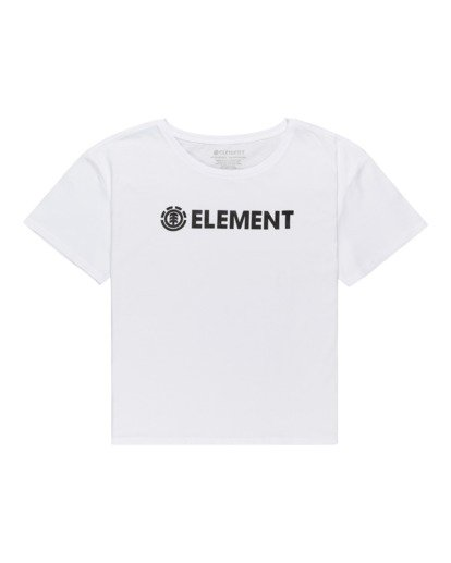 0 Element Logo - Camiseta para Mujer Blanco W3SSB7ELP1 Element