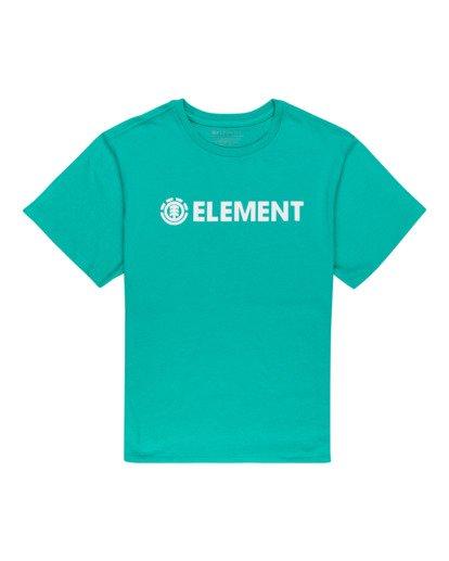 0 Element Logo - T-shirt pour Femme Bleu W3SSB7ELP1 Element