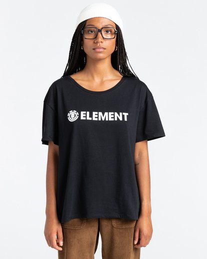 1 Element Logo - Maglietta da Donna Black W3SSB7ELP1 Element