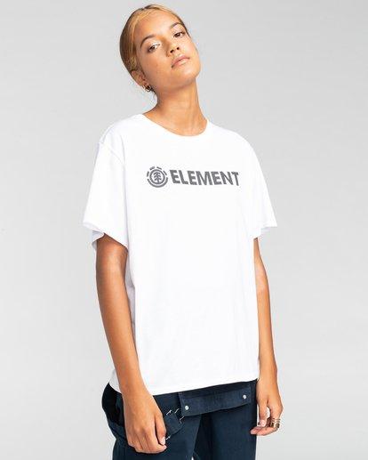 1 Element Logo - Camiseta para Mujer Blanco W3SSB7ELP1 Element