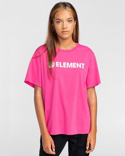 1 Element Logo - T-shirt pour Femme Rouge W3SSB7ELP1 Element