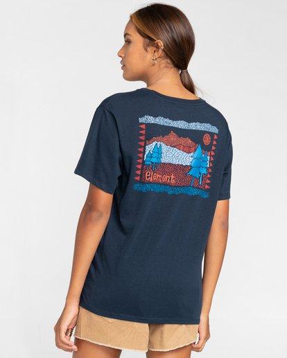 3 Walk About - Camiseta para Mujer Azul W3SSB9ELP1 Element