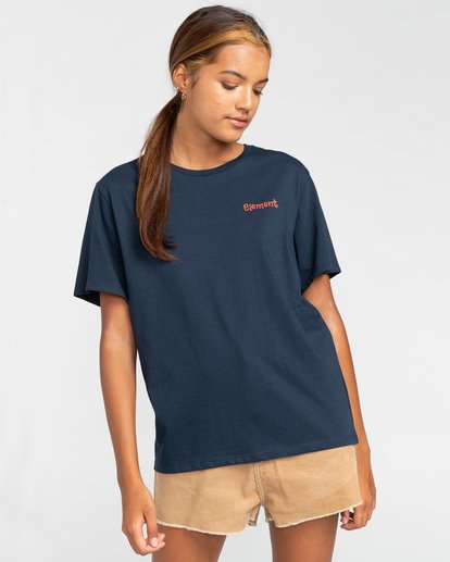 2 Walk About - Camiseta para Mujer Azul W3SSB9ELP1 Element