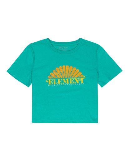 0 Debut Crop - Camiseta para Mujer Azul W3SSC2ELP1 Element