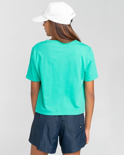2 Debut Crop - Camiseta para Mujer Azul W3SSC2ELP1 Element