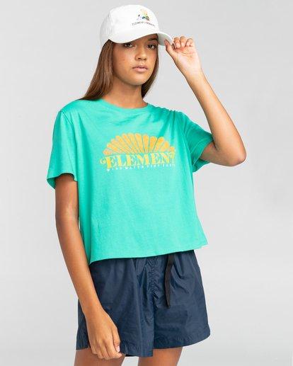 1 Debut Crop - Camiseta para Mujer Azul W3SSC2ELP1 Element