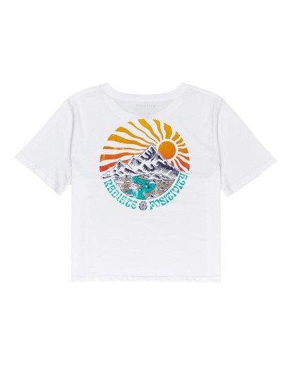 1 Positivity Crop - Camiseta para Mujer Blanco W3SSC4ELP1 Element