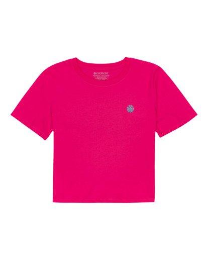 0 Positivity Crop - Camiseta para Mujer Rojo W3SSC4ELP1 Element
