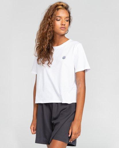 2 Positivity Crop - Camiseta para Mujer Blanco W3SSC4ELP1 Element