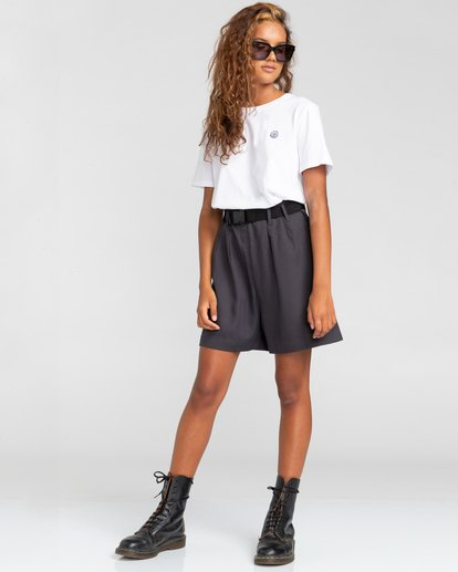 3 Positivity Crop - Camiseta para Mujer Blanco W3SSC4ELP1 Element