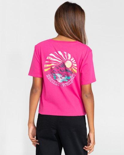 3 Positivity Crop - Camiseta para Mujer Rojo W3SSC4ELP1 Element