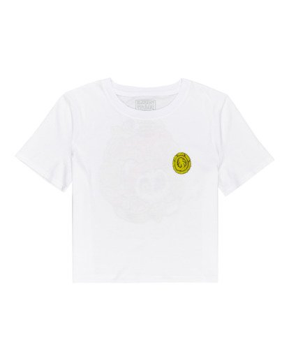 0 Timber! The Vision Crop - Camiseta para Mujer Blanco W3SSC8ELP1 Element