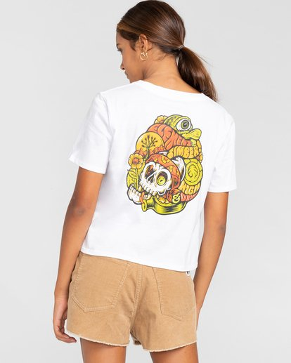 3 Timber! The Vision Crop - Camiseta para Mujer Blanco W3SSC8ELP1 Element