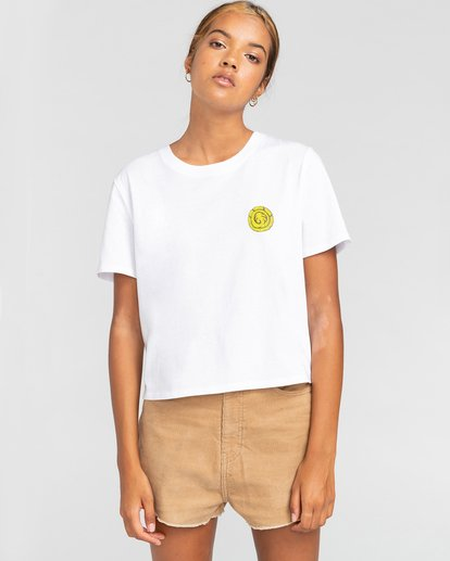 2 Timber! The Vision Crop - Camiseta para Mujer Blanco W3SSC8ELP1 Element