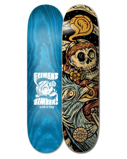 "0 8.25"" Timber High Dry Skull - Planche de skateboard pour Unisexe Noir W4DCB6ELP1 Element"