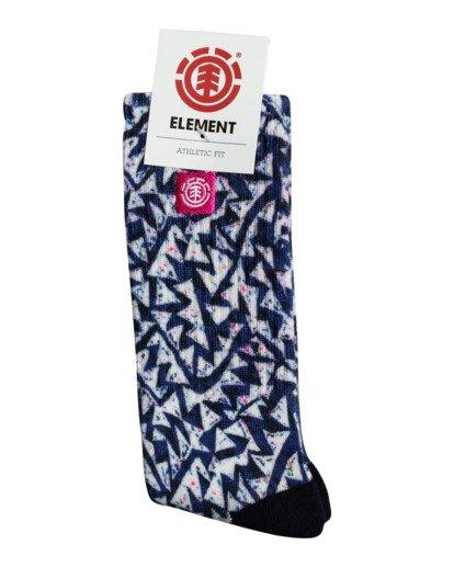 1 Future Nature Clearsight - Chaussettes de skate pour Homme Bleu W5SOA4ELP1 Element